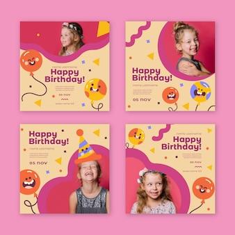 Postagens no instagram de aniversários infantis