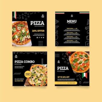Postagens no instagram de pizzarias