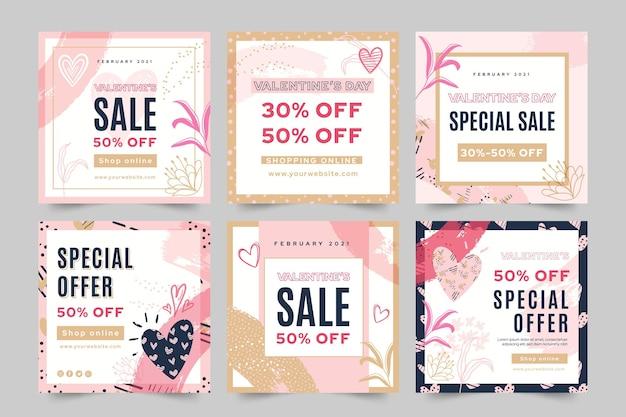 Postagens no instagram de vendas do dia dos namorados