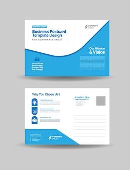 Postal de negócios corporativos