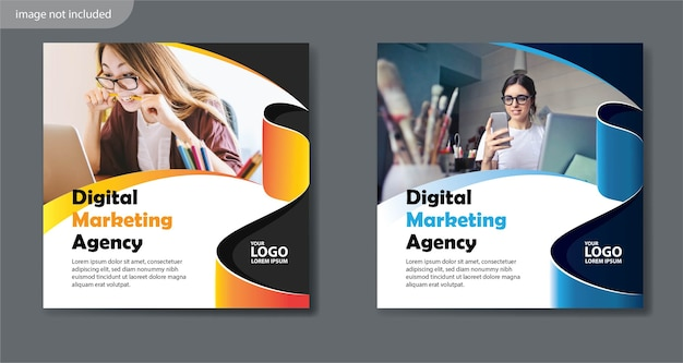 Postar modelo de mídia social para promoção e marketing