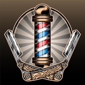 Poste de barbearia.