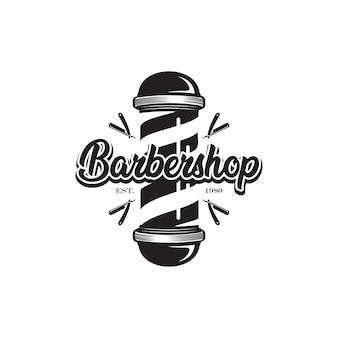 Poste de barbeiro, logotipo de barbearia