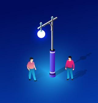 Poste de luz ultravioleta de néon