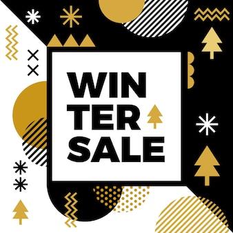 Poste de venda de inverno plana