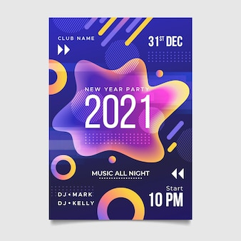 Pôster abstrato de feliz ano novo de 2021