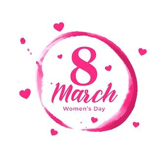 Pôster abstrato do dia das mulheres com corações