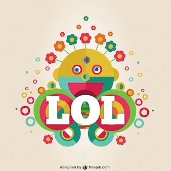 Poster abstrato engraçado colorful