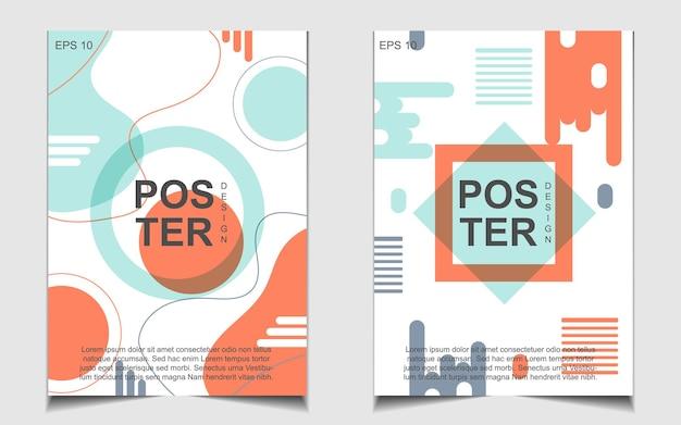 Poster abstrato moderno