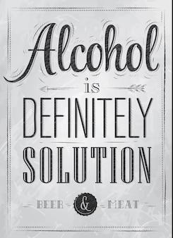 Poster alcohol definitivamente