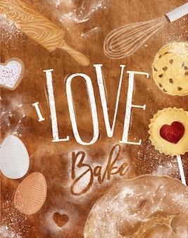 Poster amor cozer artesanato