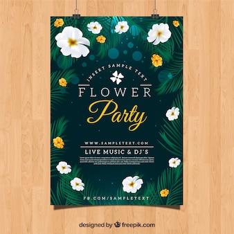 Poster bastante escuro com flores de festa