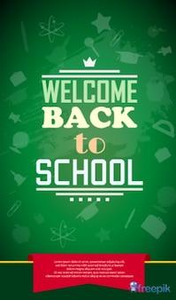 Poster bem-vindo de volta à escola