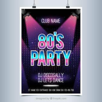 Poster brilhante para um disco party
