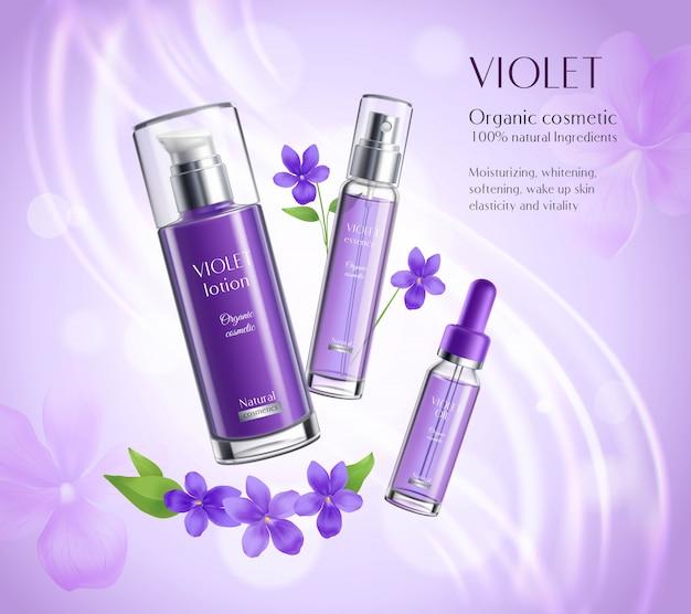 Poster colorido da composição do produto dos cosméticos