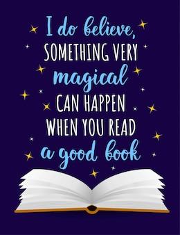 Poster colorido sobre livros