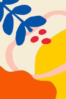 Pôster com estampas de flores coloridas e brilhantes