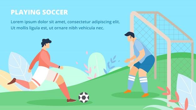 Poster convite jogando futebol