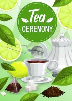 Pôster da cerimônia do chá