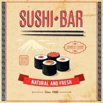 Poster da comida asiática