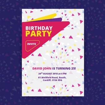Poster da festa de aniversário