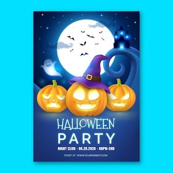 Pôster da festa de halloween
