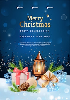 Pôster da festa de natal de 2022