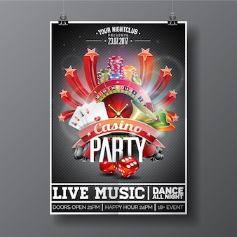 Poster da festa do casino