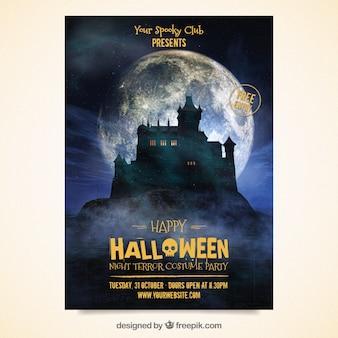 Poster da festa do Dia das Bruxas