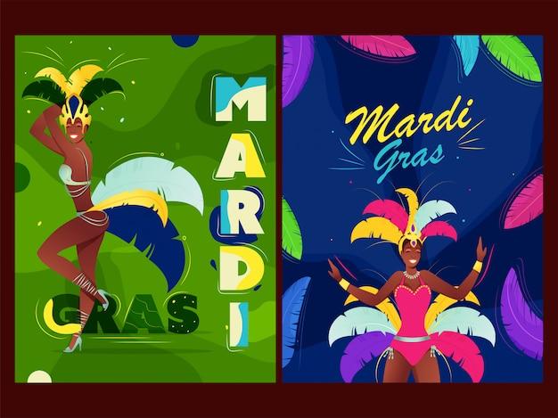 Poster da grama do carnaval