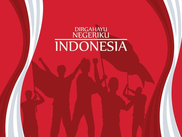 Pôster da merdeka na indonésia