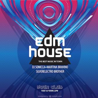 Poster da música de dança eletrônica