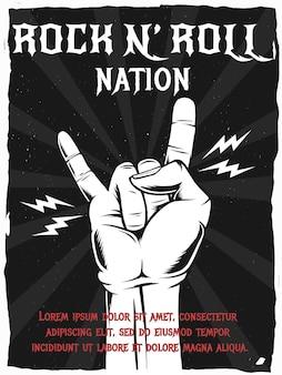 Pôster da nação do rock n roll