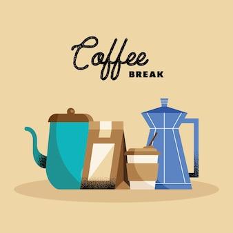 Pôster da pausa para o café