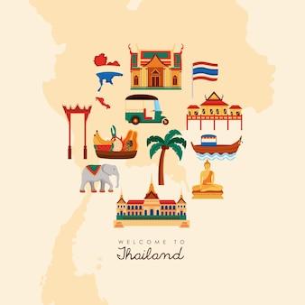 Pôster de boas-vindas da tailândia