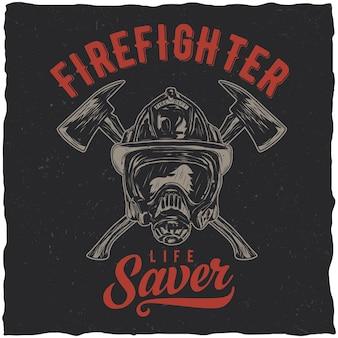 Pôster de bombeiro