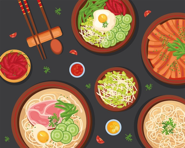 Pôster de comida coreana