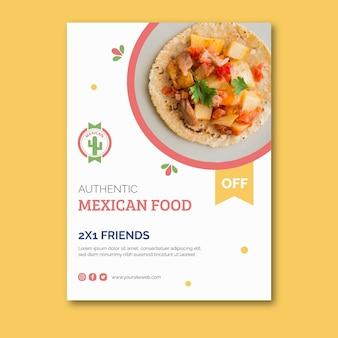 Pôster de comida mexicana