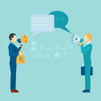 Poster de comunicação empresarial