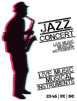Poster de concertos de jazz