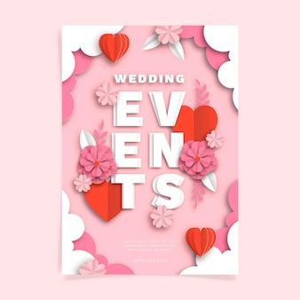 Pôster de convite de casamento