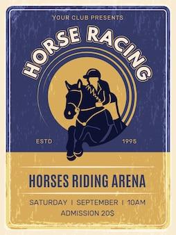 Pôster de corrida de cavalos