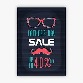 Poster de desconto do dia dos pais