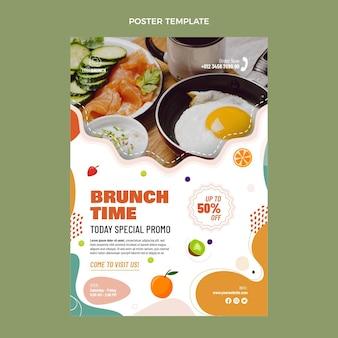 Pôster de design plano delicioso brunch
