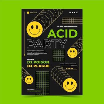 pôster de emoji flat acid