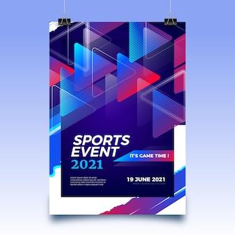 Pôster de evento esportivo de 2021