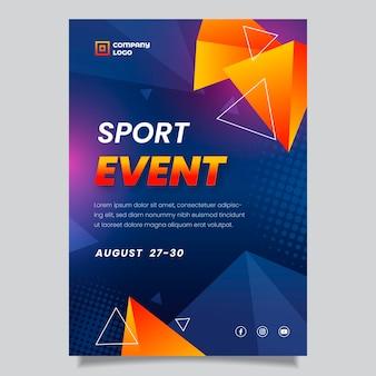 Pôster de evento esportivo de gradiente