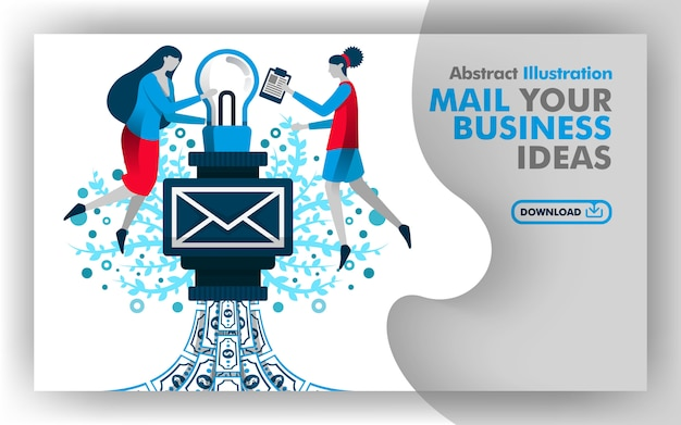 Poster de mail your business ideas