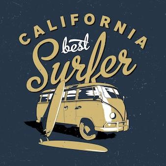 Pôster de melhor surfista da califórnia