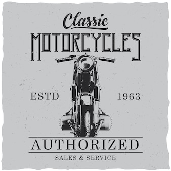 Pôster de motocicletas clássicas